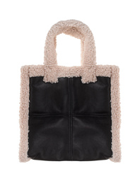 STAND STUDIO Lolita Faux Shearling Black Off White