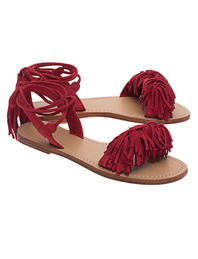 Mystique Monterey Fringes Red