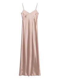 GALVAN LONDON Slip Dress Satin V Neck Nude