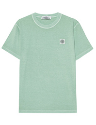 STONE ISLAND Dyed Small Logo Turquoise Water Blue