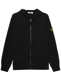 STONE ISLAND Zip Logo Patch Black