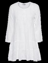 Juliet Dunn Embroidered Pleat Mini White