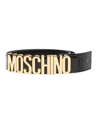 MOSCHINO Logo Lettering Gold Black