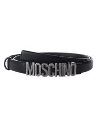 MOSCHINO Logo Slim Plain Black Anthracite