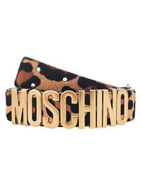 MOSCHINO Leo Logo Black Gold