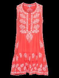 Juliet Dunn Sleeveless Sequin Red Orange
