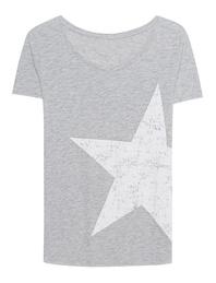 JUVIA Slub T-Shirt Star Grey