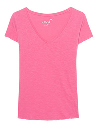 JUVIA Basic V-Neck Pink