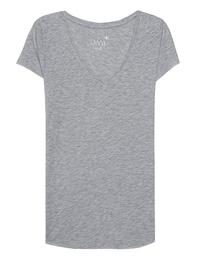 JUVIA Basic V-Neck Grey