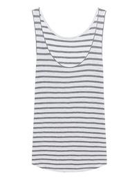 JUVIA Stripe Top Grey White