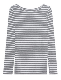 JUVIA Jersey Stripe Shirt