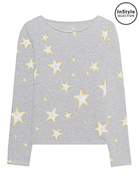 JUVIA Stars Sweat Grey Melange