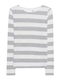 JUVIA Stripe Sweater Grey Melange