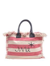 JUVIA Beach Bag Stripe Bubblegum