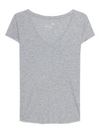JUVIA V-Neck Basic Grey Melange