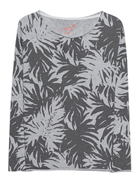 JUVIA Print Palms Sweater Anthra