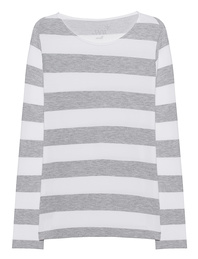 JUVIA Sweater Stripes White Grey