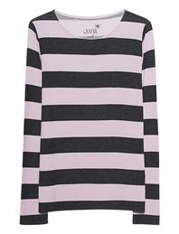 JUVIA Sweater Stripes Anthra Rosé