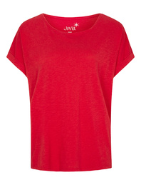 JUVIA CREW NECK BOXY Fire Red