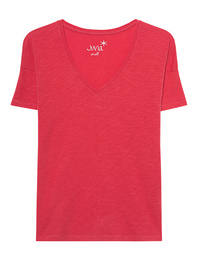 JUVIA Vneck Shirt Red