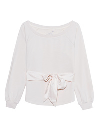 JUVIA Bow Sweat Off-White