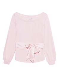 JUVIA Bow Sweat Blushed Pink