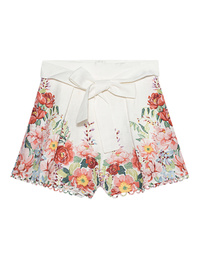 ZIMMERMANN Bellitude Floral Shorts White