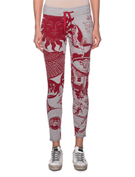 JUVIA Print Jogger Red Grey