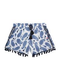 FROGBOX Shorts Paisley Blue