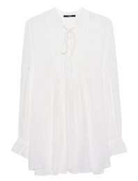 SLY 010 Volant Lace Up Off White
