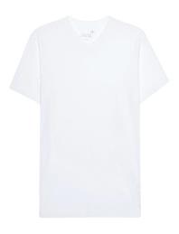 JUVIA V-Neck Basic White