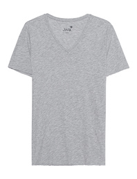 JUVIA Vneck Mottled Grey