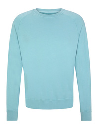 JUVIA Terry Fleece Rib Aqua Light Blue