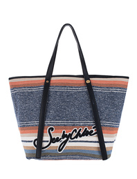 SEE BY CHLOÉ Striped Cabas Black