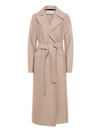 HARRIS WHARF LONDON Long Maxi Coat Pressed Wool Almond
