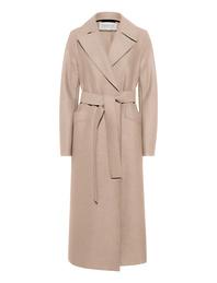 HARRIS WHARF LONDON Long Maxi Coat Pressed Wool Almond