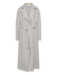 HARRIS WHARF LONDON Long Maxi Coat Pressed Wool Ash Mouline