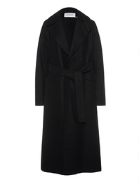 HARRIS WHARF LONDON Long Maxi Coat Pressed Wool Black