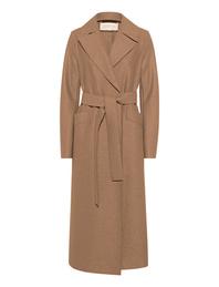 HARRIS WHARF LONDON Long Maxi Coat Pressed Wool Tan