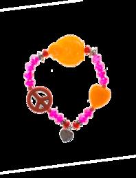 YUTA PASCH Buddha Peace Heart Orange Pink