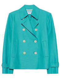 HARRIS WHARF LONDON Cropped Trench Tropical Blue
