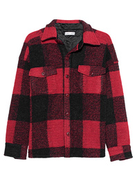 ANINE BING Bobbi Flannel Jacket Red
