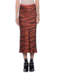 ANINE BING Zebra Skirt Rust Brown