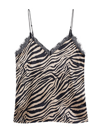 ANINE BING Alicia Zebra Top Gold