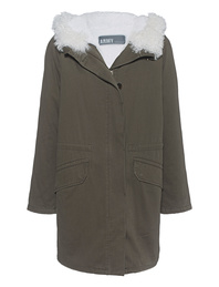 YVES SALOMON Parka Teddy Oliv Nature