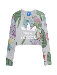 ADIDAS ORIGINALS Crop Raglan Trefoil Multi