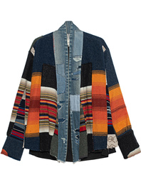 GREG LAUREN Blanket Scrapwork Multicolor