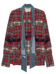 GREG LAUREN Mixed Plaid Red