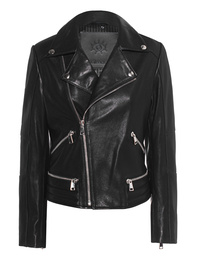 aprilmarch Biker Leather Zipper Black