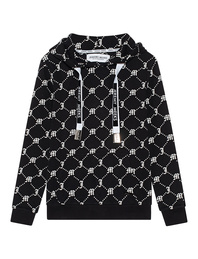 JEREMY MEEKS Hood Allover Logo Black